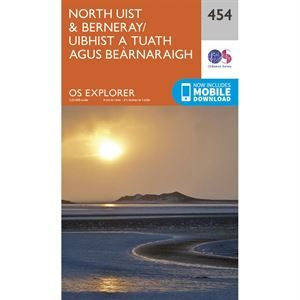 OS Explorer 454 Paper - North Uist & Berneray
