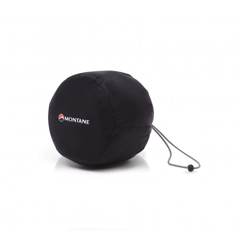 Montane Extreme Mitts Black packed in bag