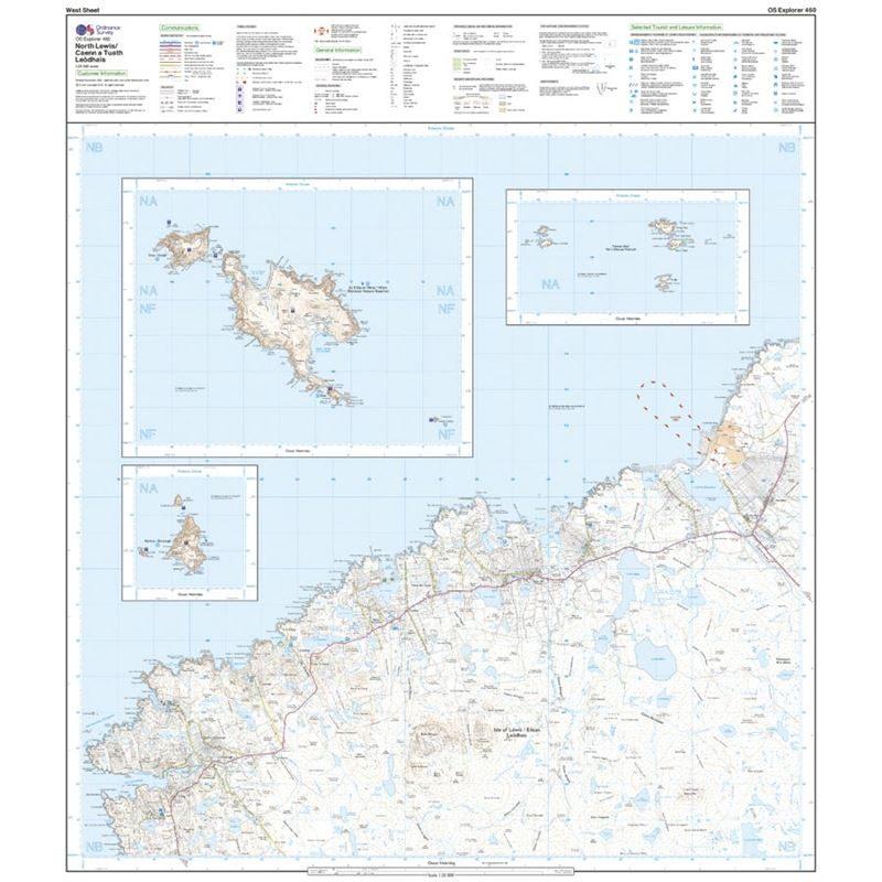 OS Explorer 460 Paper - North Lewis west sheet