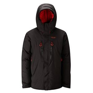 Rab Men's Batura Jacket Black with Red Zips