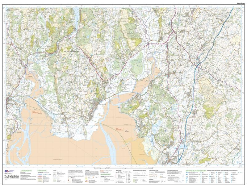 OS OL7 The English Lakes South-Eastern Area Active south sheet