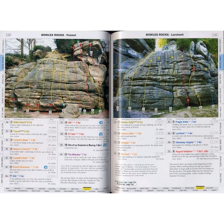 Sandstone Climbing in South East England pages