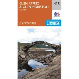 OS Explorer 415 Paper - Glen Affric & Glen Moriston 1:25,000