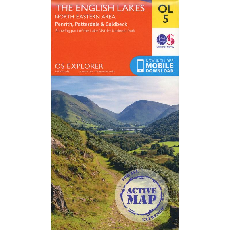 OS OL/Explorer 5 Active - The English Lakes North-Eastern Area 1:25,000