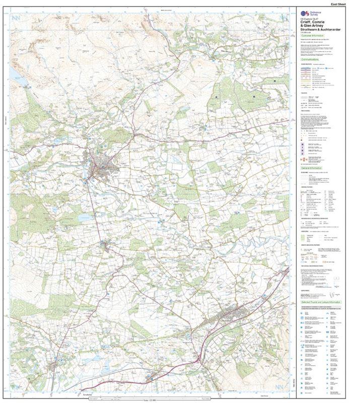 OS OL/Explorer 47 Paper - Creiff, Comrie & Glen Artney east sheet