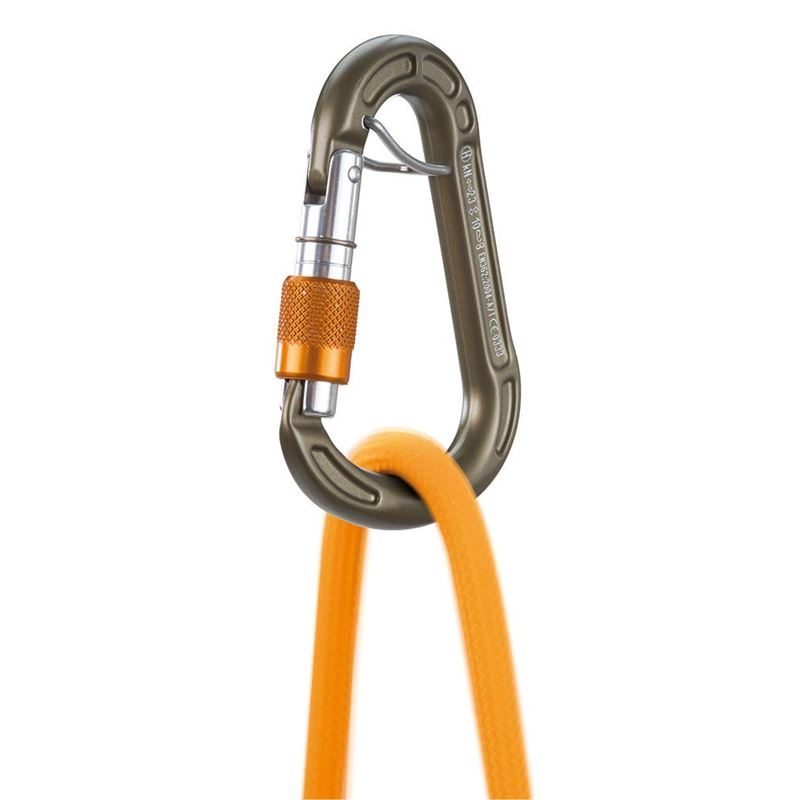 Climbing Technology Concept HMS SGL Belay Karabiner in use