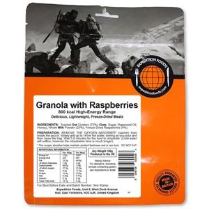 Expedition Foods Granola with Raspberries (Vegetarian, 800kcal)