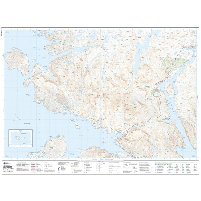 OS Explorer 456 Paper - North Harris and Loch Seaforth sheet