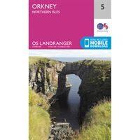 OS Landranger 5 Paper - Orkney - Northern Isles