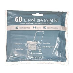 Clean Waste Go Anywhere Toilet Kit WAG Bag
