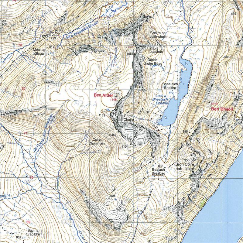 Harvey Ultramap XT40 - Ben Alder detail