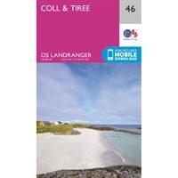OS Landranger 46 Paper - Coll & Tiree