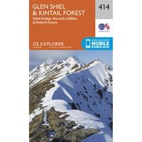 OS Explorer 414 Paper Glen Shiel & Kintail Forest 1:25,000