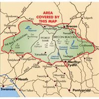 BMC Waterproof Mountain Map - Brecon Beacons coverage