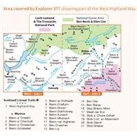 OS Explorer 377 Paper - Loch Etive & Glen Orchy coverage