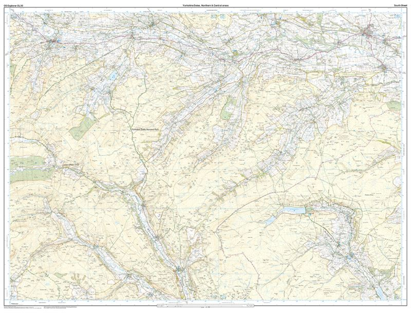 OS Explorer 30 Dales North & Central Areas south sheet