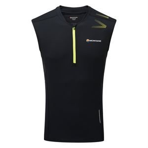Montane Men's Fang Zip Tank Black