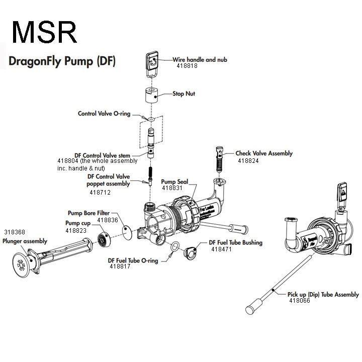 MSR Duraseal DragonFly Fuel Pump diagram
