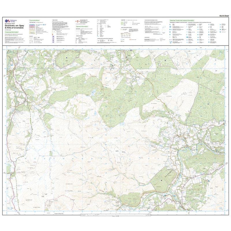 OS OL/Explorer 61 Paper - Grantown-on-Spey & Hills of Cromdale north sheet