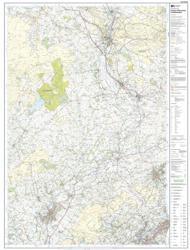 OS OL41 Forest of Bowland & Ribblesdale east sheet