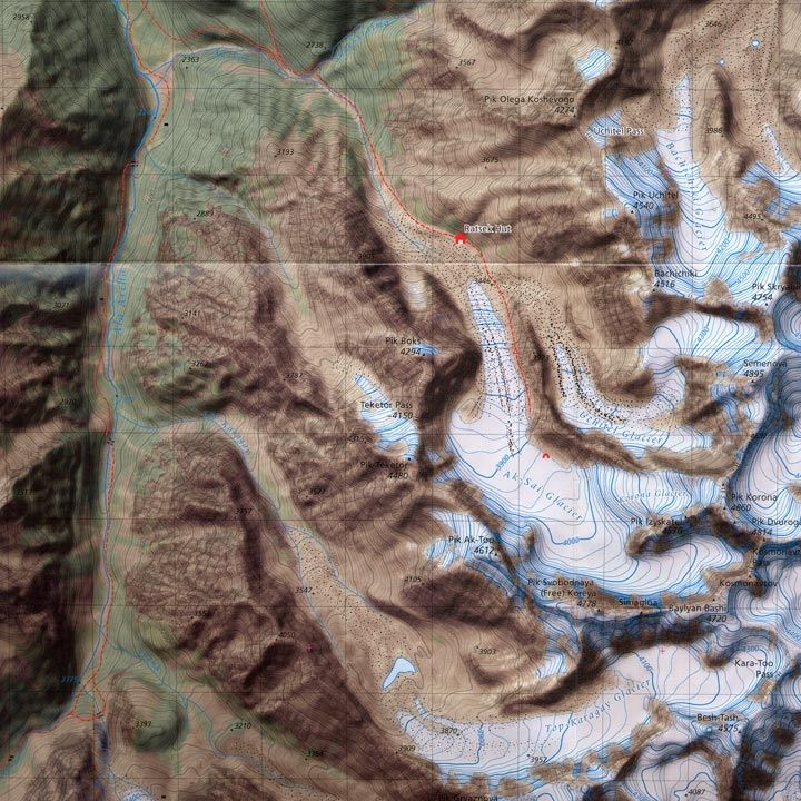 Kyrgyzstan - A Climber's Map and Guide detail