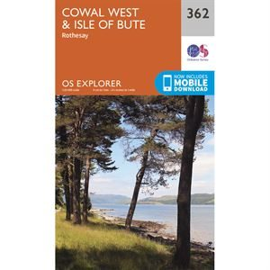 OS Explorer 362 Paper - Cowal West & Isle of Bute