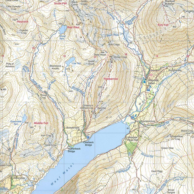 Harvey Ultramap XT40 - Lake District West sample