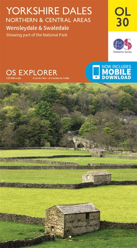 OS Explorer 30 Dales North & Central Areas