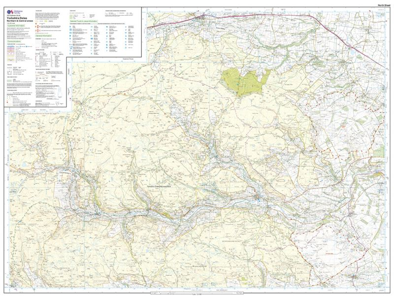 OS Explorer 30 Dales North & Central Areas north sheet