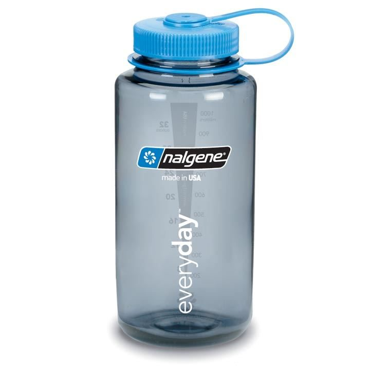 Nalgene Tritan Bottle Wide Mouth 1 Litre Smoke Grey