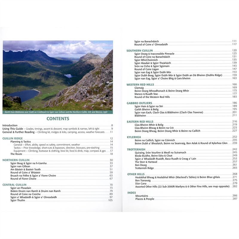The Cuillin and Other Skye Mountains contents