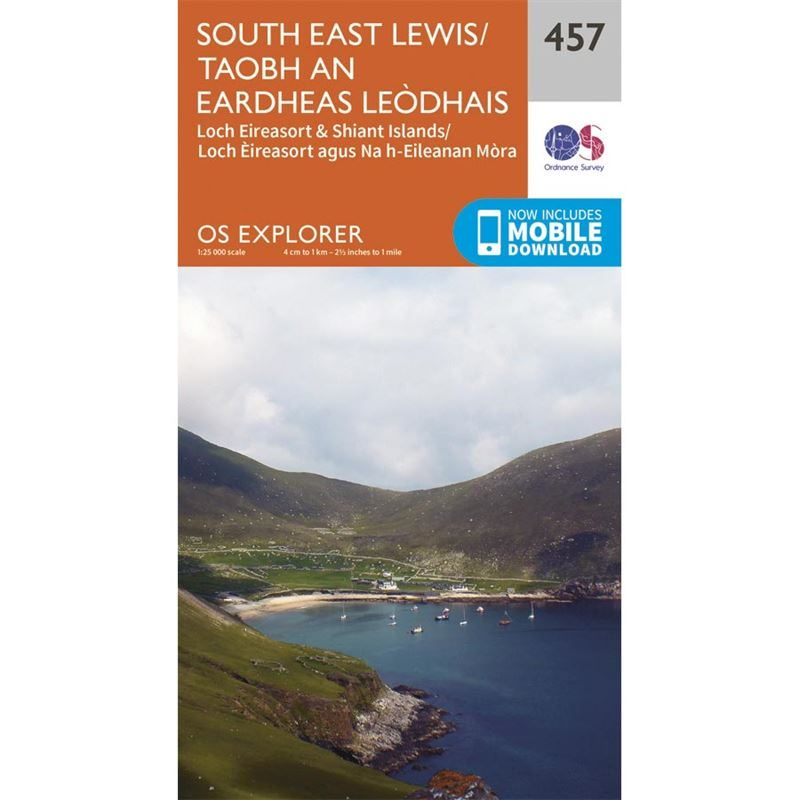 OS Explorer 457 Paper - South East Lewis