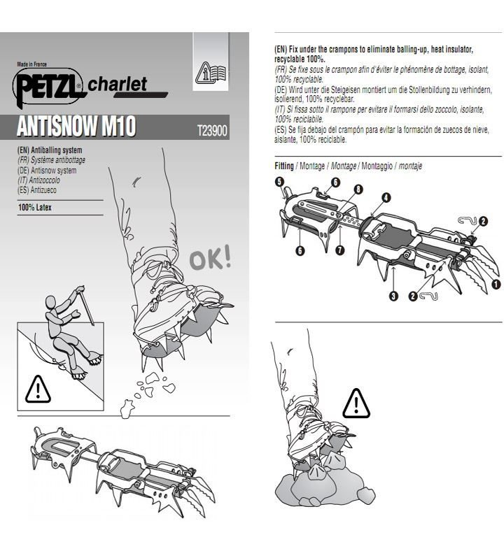 Petzl M10 Antisnow instructions
