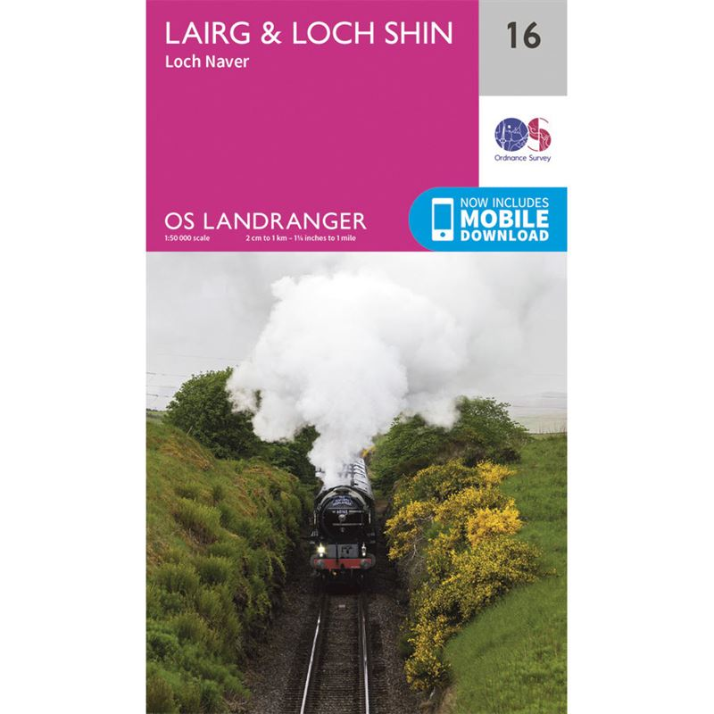 OS Landranger 16 Paper - Lairg & Loch Shin 1:50,000