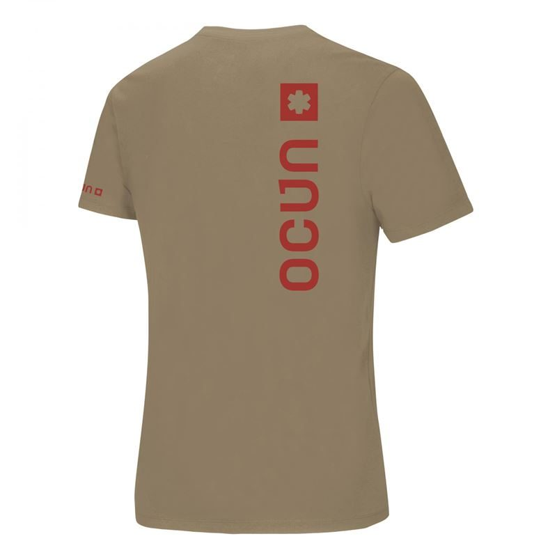 Ocun Men's Logo T Irish Cream back