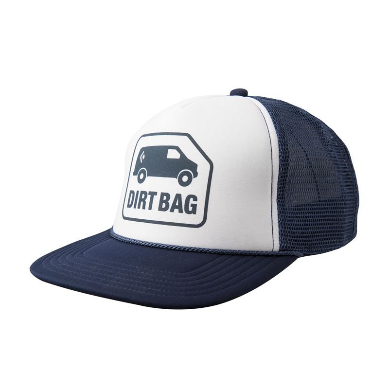 Black Diamond Flat Bill Trucker Hat Captain/White with Dirt Bag Logo