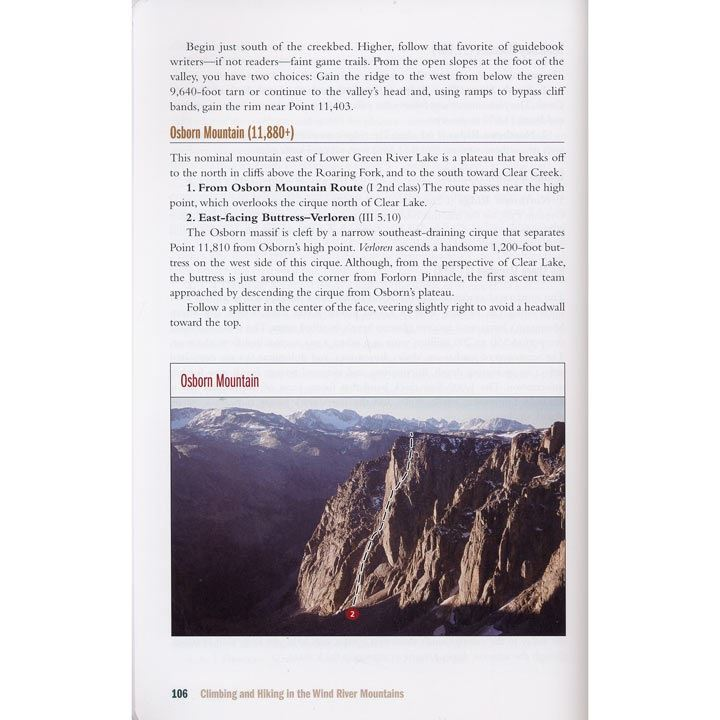 Climbing and Hiking in the Wind River Mountains page