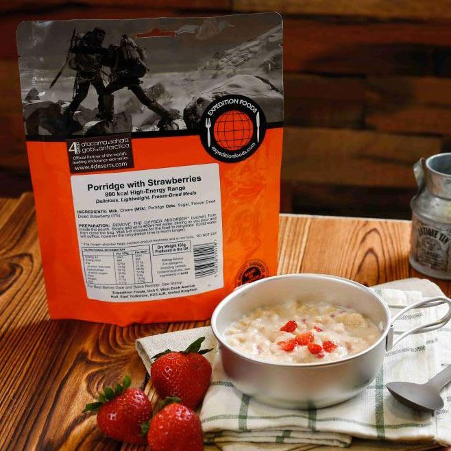 Expedition Foods Porridge with Strawberries (Vegetarian, 800kcal)