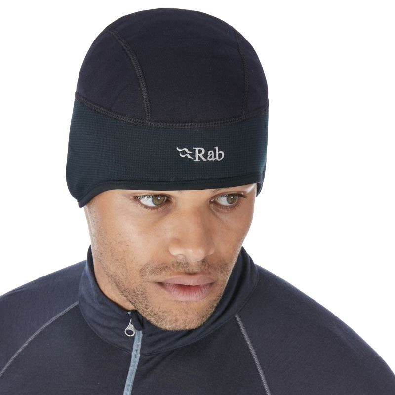 Rab Shadow Beanie Black in use