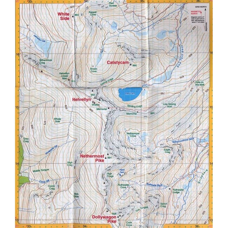 Harvey Summit Map Helvellyn coverage
