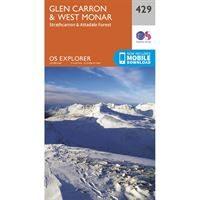 OS Explorer 429 Paper Glen Carron & West Monar 1:25,000