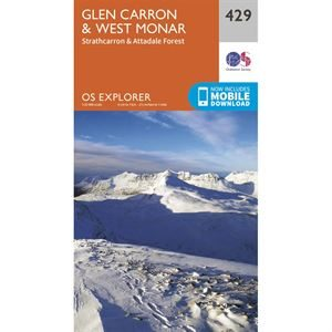 OS Explorer 429 Paper Glen Carron & West Monar 1:25,000