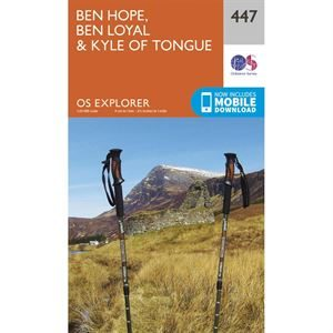OS Explorer 447 Paper - Ben Hope, Ben Loyal and Kyle of Tongue 1:25,000
