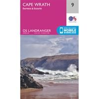 OS Landranger 9 Paper - Cape Wrath 1:50,000