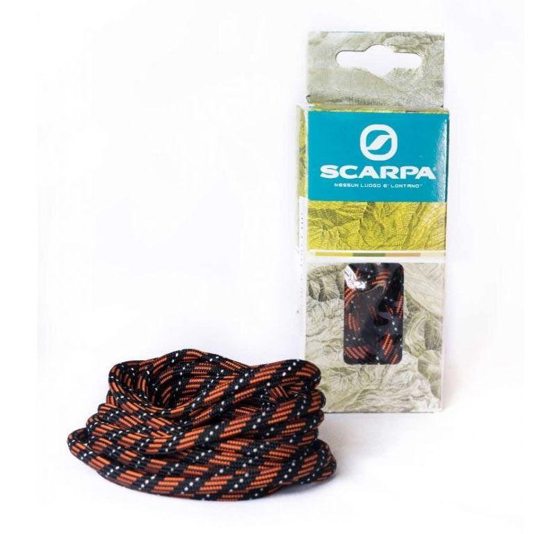 Scarpa 180cm Round Laces Black/Orange