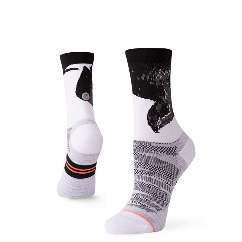 Stance Women's Lauren Fleshman Bird Crew White