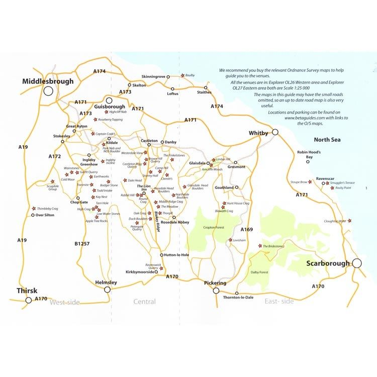 North York Moors and East Coast Bouldering coverage