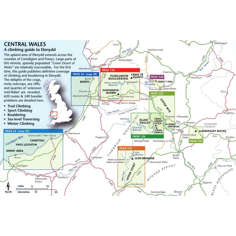 Central Wales - A guide to Climbing and Bouldering in Elenydd coverage