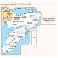 OS Explorer 412 Paper - Skye - Sleat coverage
