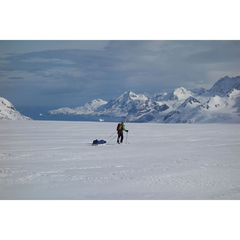 Charles Sherwood on the Spencley Glacier, South Georgia - the cover photo for the book (Photo: Stephen Reid)